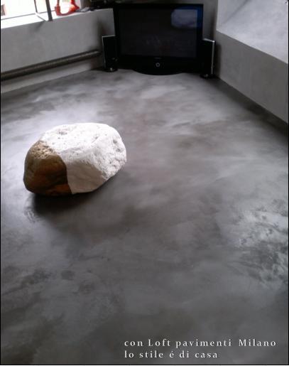 Pavimenti in cemento indurito e spatolato a milano - Pavimenti in cemento per interni ...