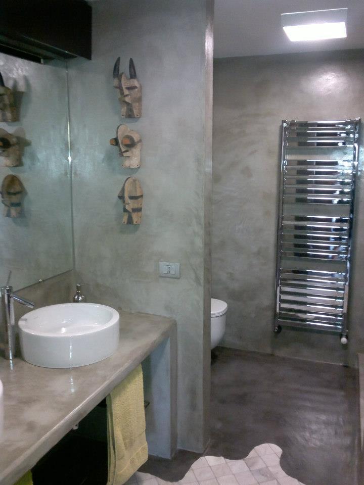 Eccezionale Bagno In Cemento Resinato ~ Ispirazione Interior Design & Idee Mobili YU87