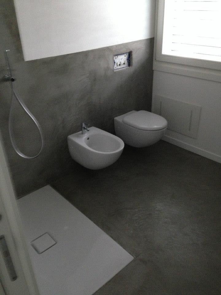 Pavimenti in cemento lavorazioni e particolari - Bagno cemento spatolato ...