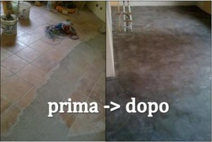 Posa pavimenti in cemento a milano - Incollare su piastrelle bagno ...
